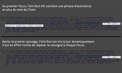 Image montrant le code source d'une image dont l'attribut ALT est mis à jour dynamiquement